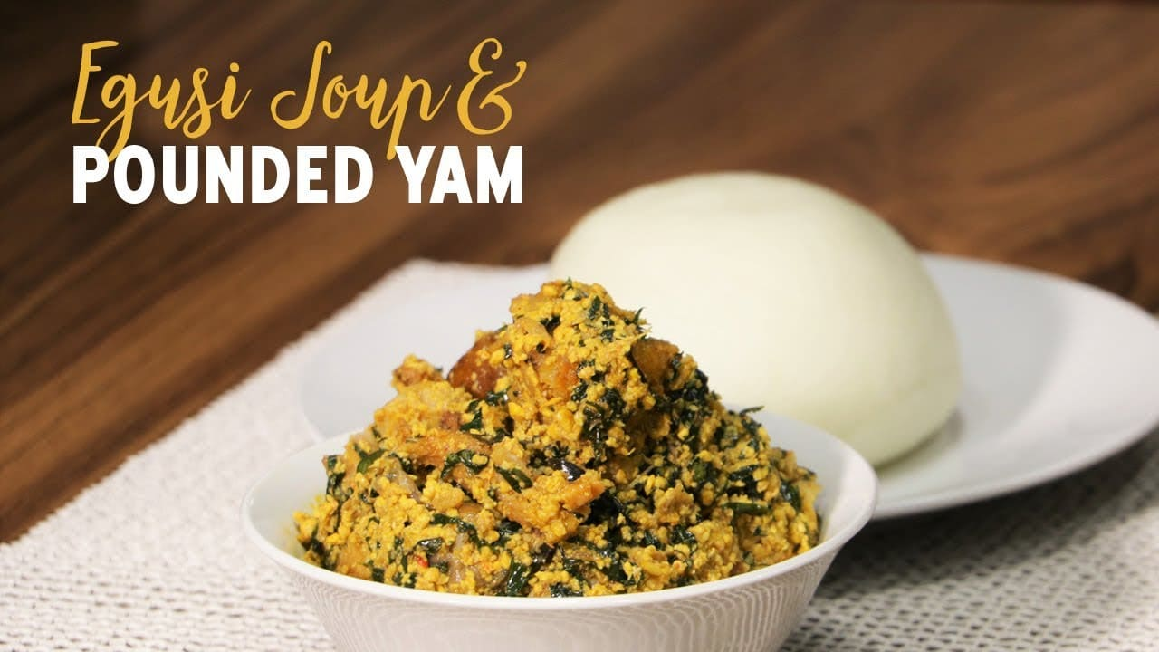 How To Prepare Pounded Yam And Egusi Soup My Recipe Joint
