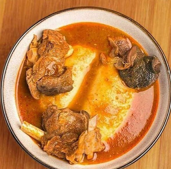 fufu with light soup
